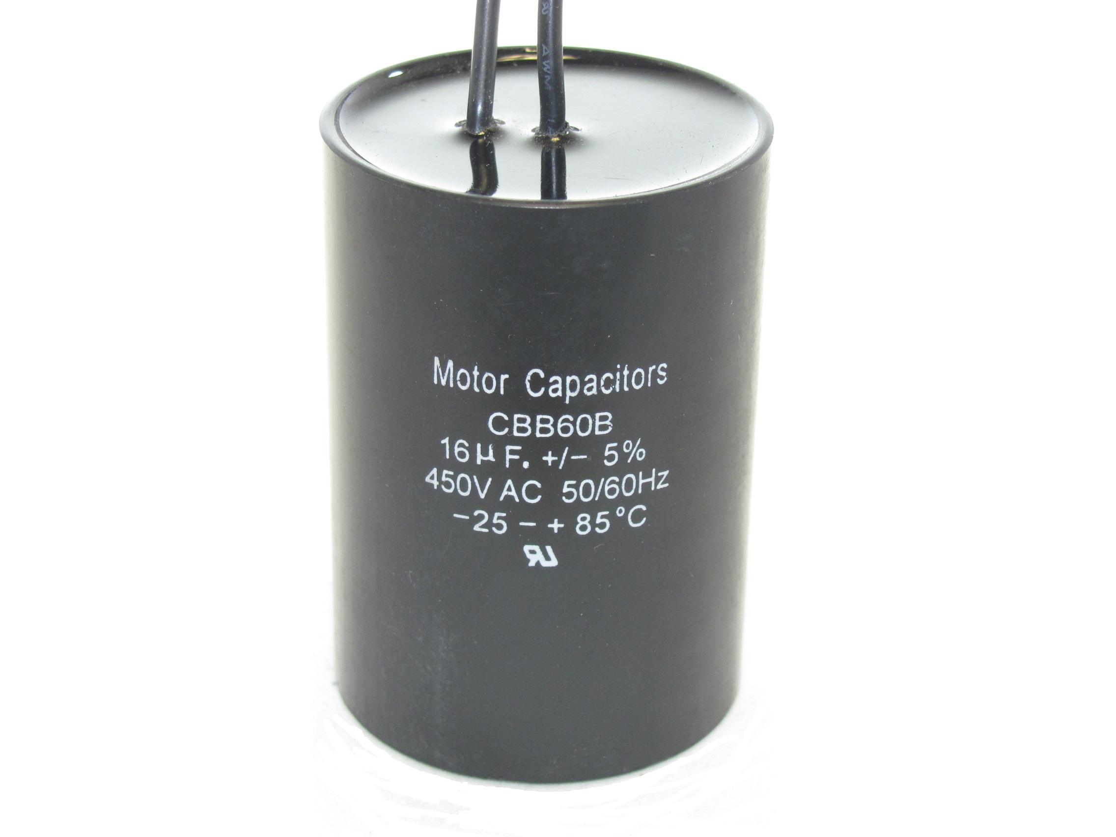 Cbb60b 450n166 16 Uf 450 Vac Capacitor Capacitor Industries