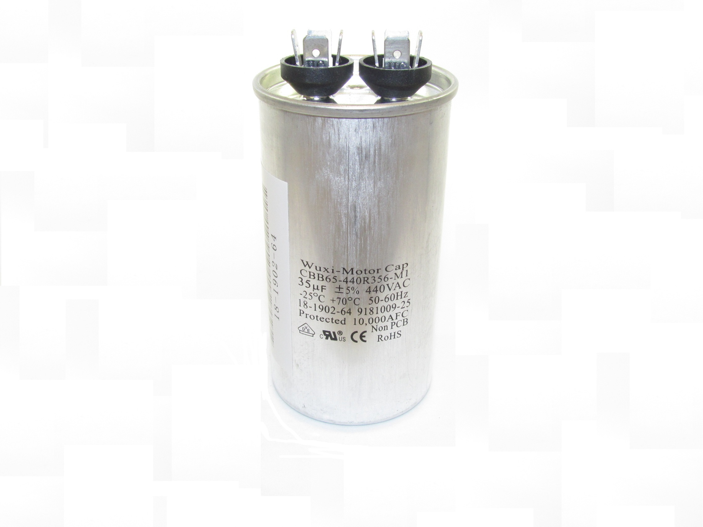 CBB65 Motor Run Capacitors (Round-Shaped, Single Capacitance Value)