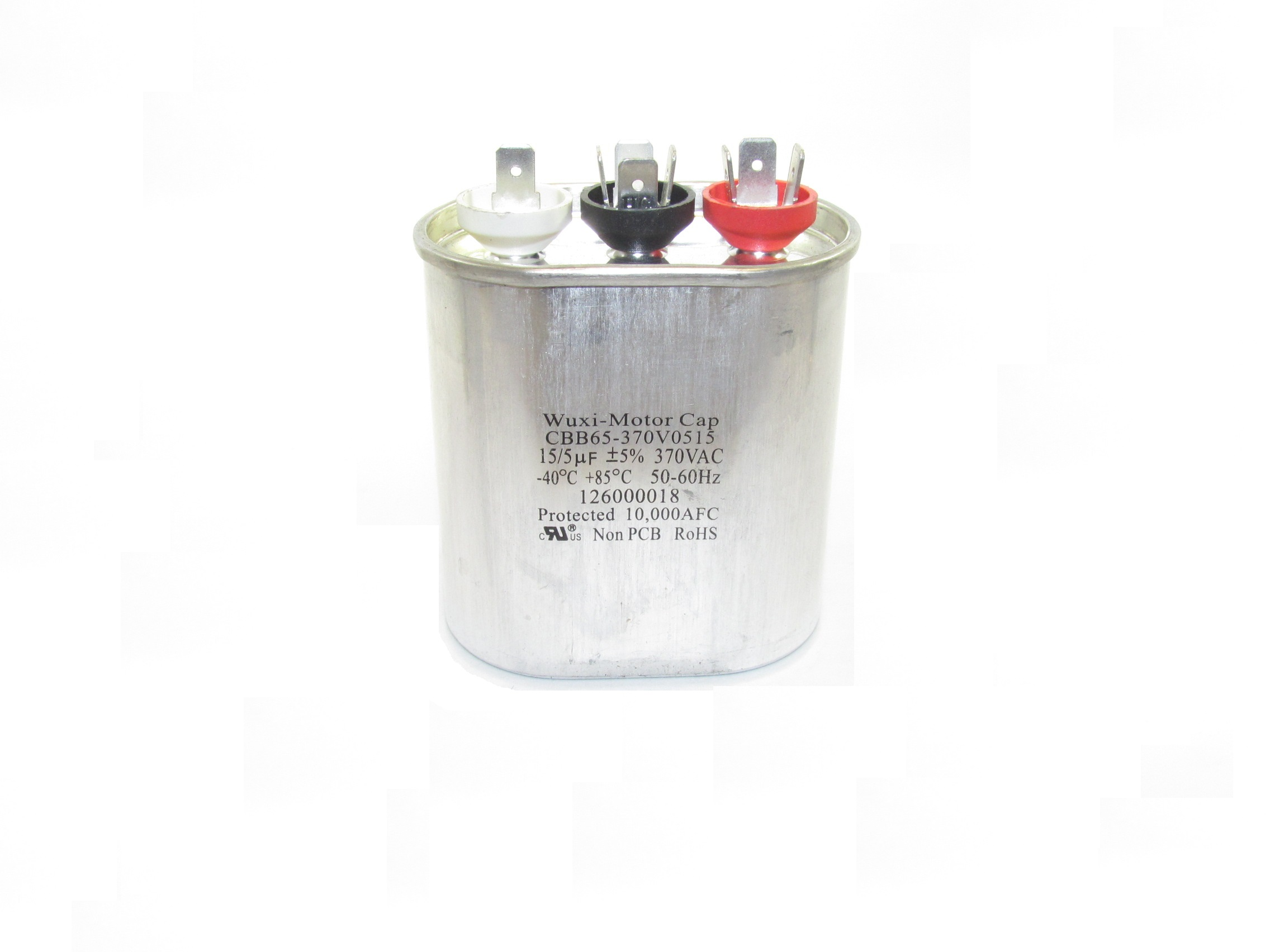 CBB65 Motor Run Capacitors (Oval-Shaped, Dual Capacitance Value)