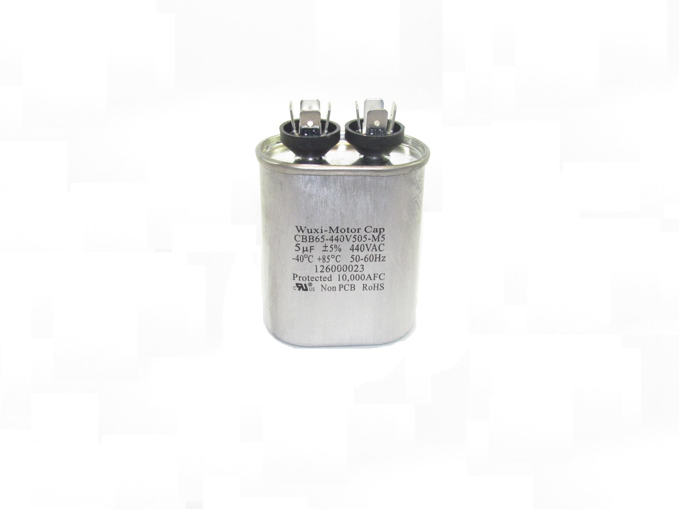 CBB65 Motor Run Capacitors (Oval-Shaped, Single Capacitance Value)